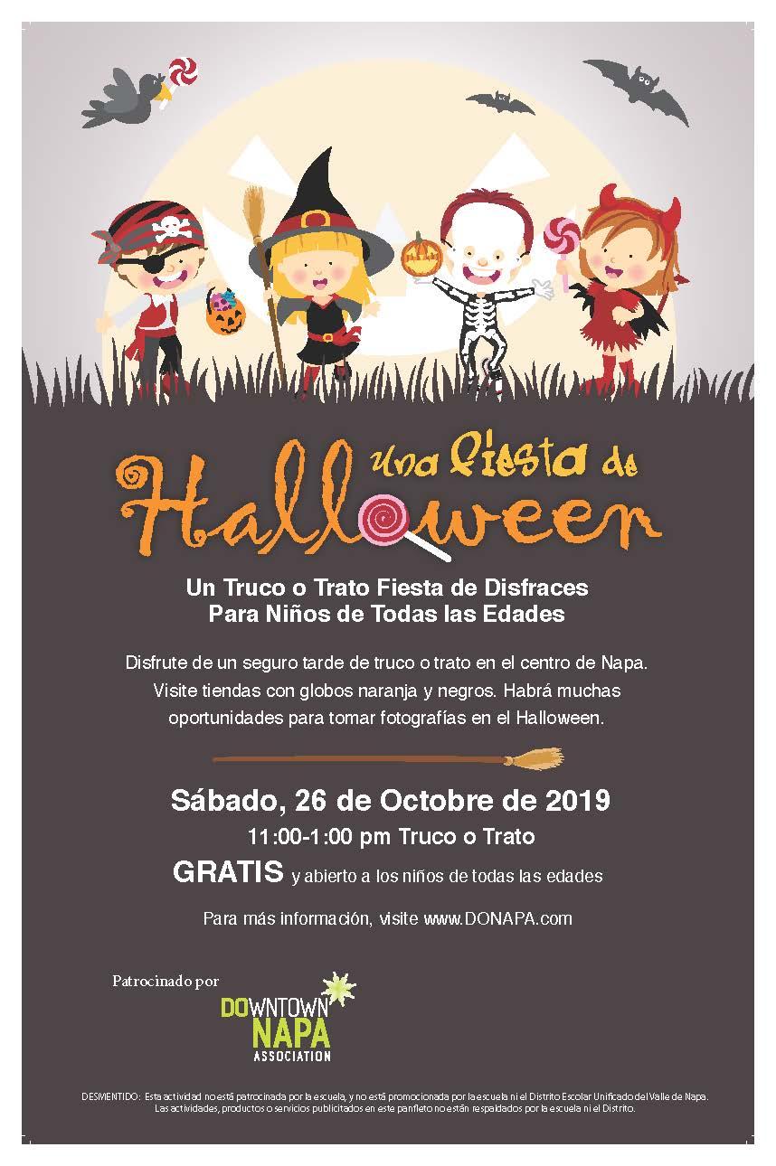 Actividades Por Halloween En El Valle Para NiñOs 2020 BON_Halloween19_Poster.Esp   DoNapa