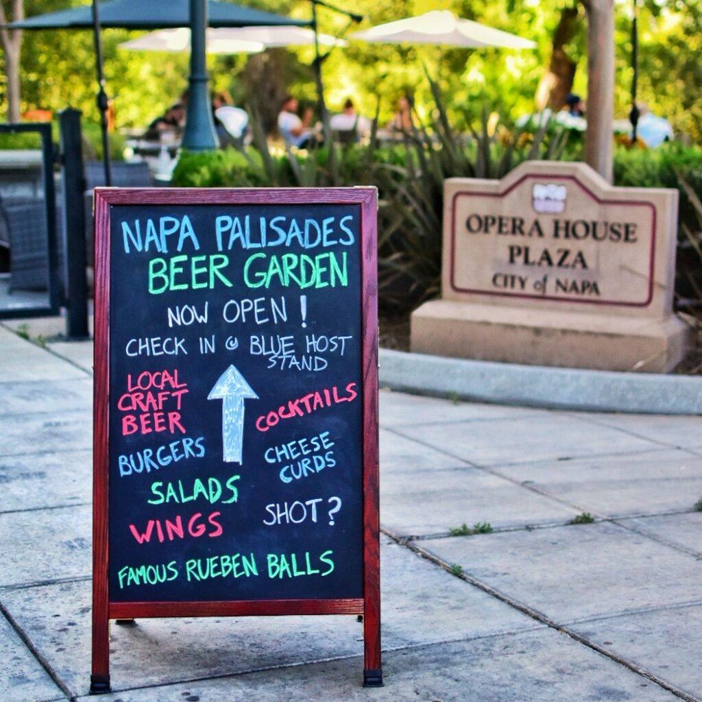 Beer Garden Downtown Napa